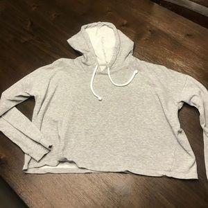 H&M Grey Crop Top Sweatshirt/Hoodie